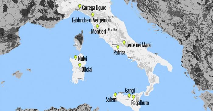 Huizen In Italie : Huizen te koop voor euro een kaart van de italiaanse gemeenten