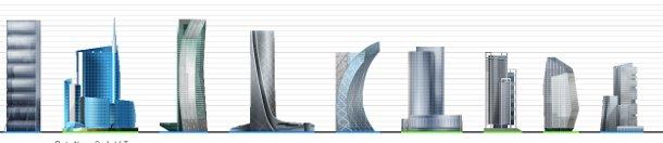 Lo skyline di milano spuntano i nuovi grattacieli for I nuovi grattacieli di milano