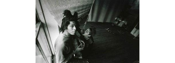madonna con il pittore statunitense basquiat al chelsea hotel