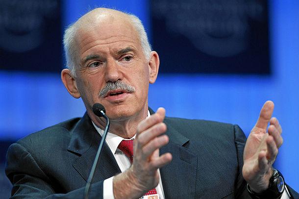 il primo ministro greco papandreou (cc world economic forum, flickr.com)