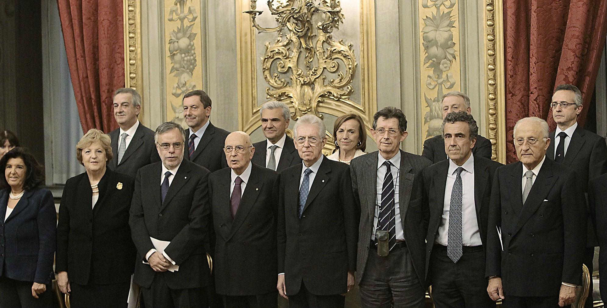 i ministri italiani il giorno del giuramento