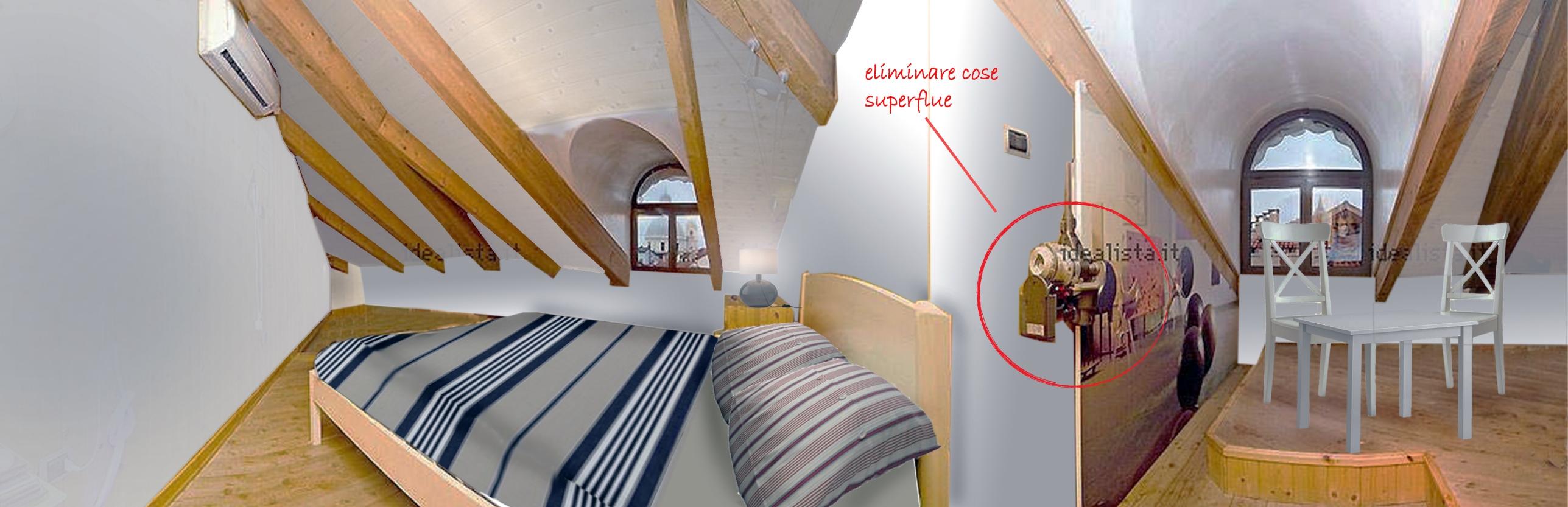 Home staging come illuminare un appartamento con mansarda for Mansarda in legno bianco