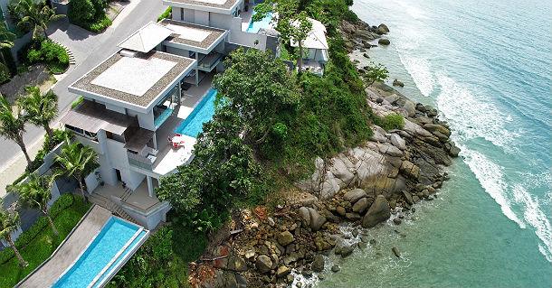 Casa da sogno stravagante design a picco sul mare di un for Arredamento thailandese