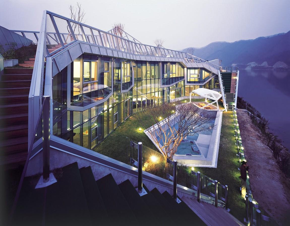 Villa sud corea idealista news for Piani casa sulla riva