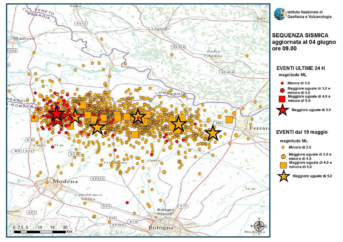Immagine del giorno: l'impressionante sequenza sismica in emilia