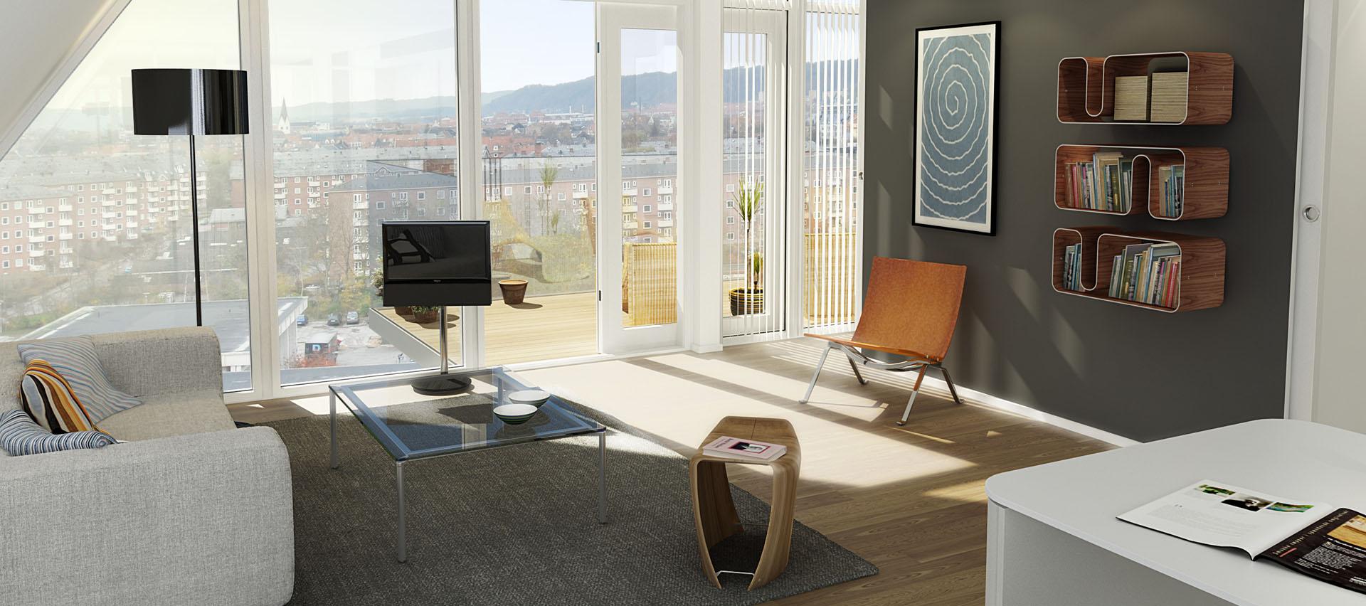 The wave un residence dal profilo sinuoso sul fiordo for Architetti famosi moderni