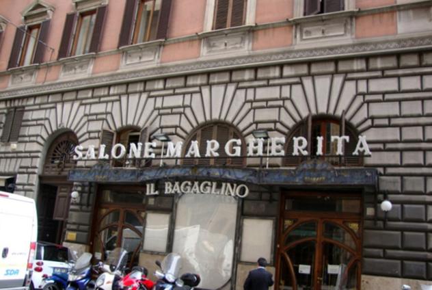 il salone margherita a roma, sede del bagaglino