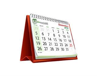 calendario lavorativo del parlamento