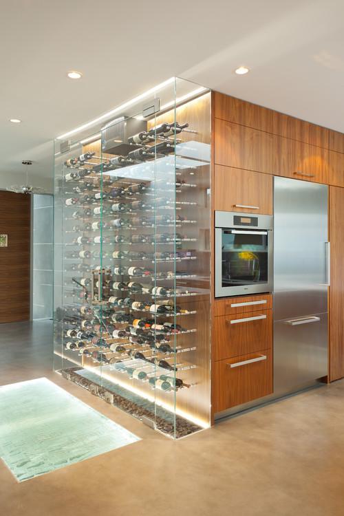 Tutti pazzi per il vino 12 cantine moderne per decorare - Vinoteca para casa ...