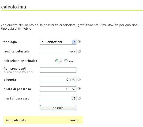 Calcolo imu catania vivi a catania calcola la tua imu - Come si calcola l imu sulla seconda casa ...