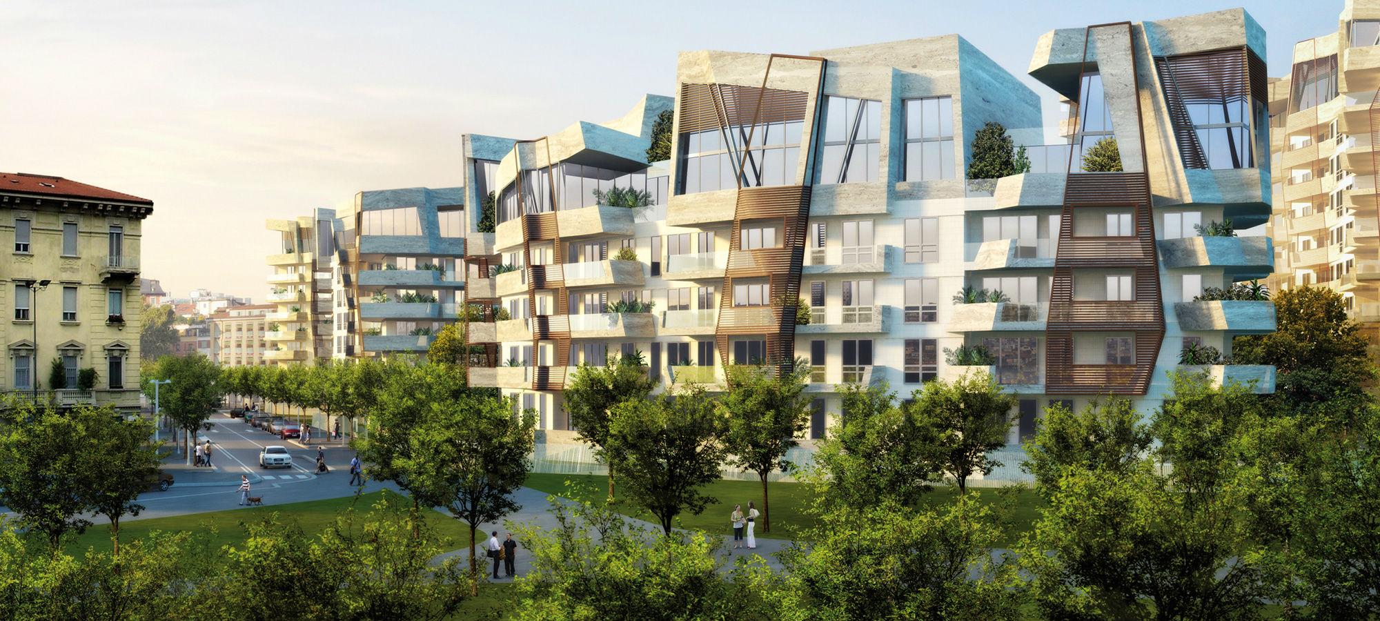 un rendering del progetto citylife