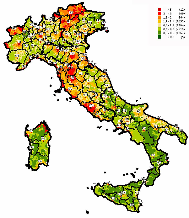 Il termometro dei prezzi delle case in italia grafico for Case economiche a prezzi accessibili
