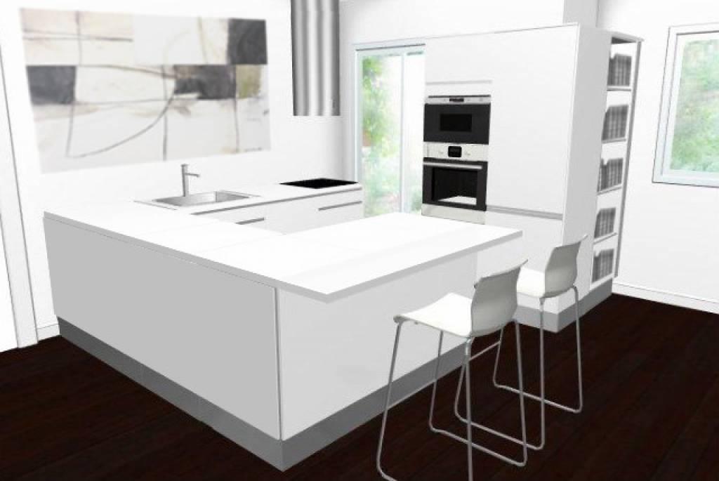 Come rifare la cucina con il planner di ikea e trasformarla in una zona di relax fotogallery - Cucine ikea con penisola ...