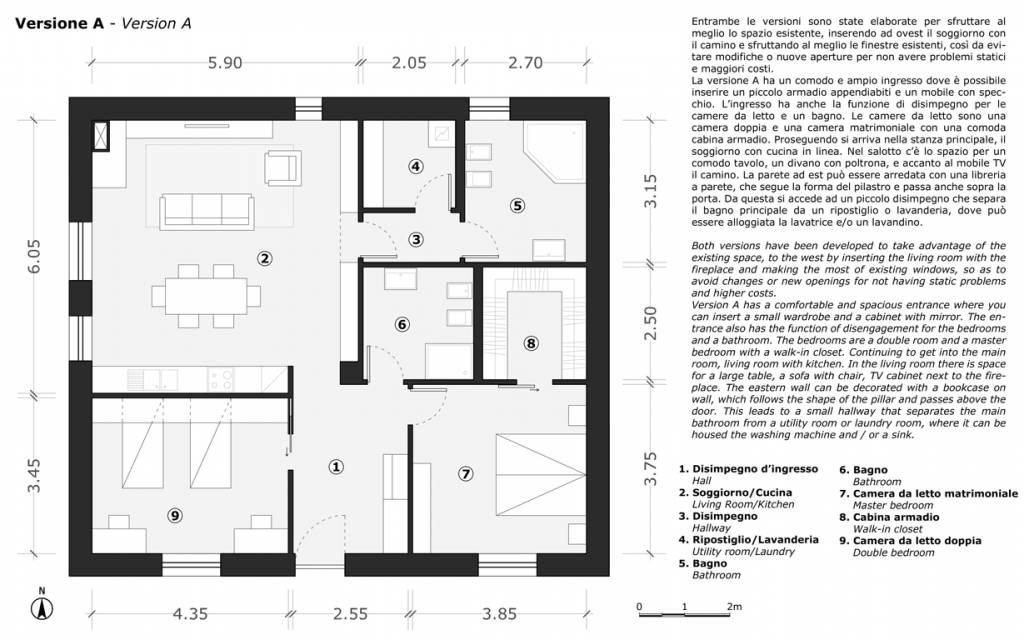 22 idee per cambiare completamente il volto di una casa for Planimetrie 5 camere da letto