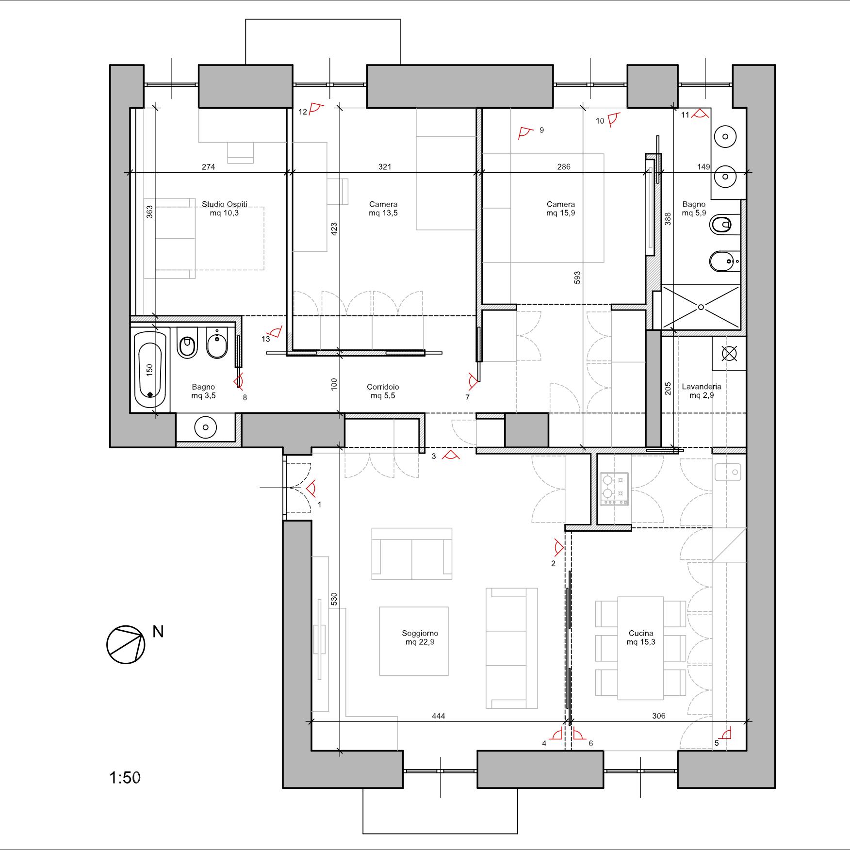 15 idee per ristrutturare un appartamento da cima a fondo for Progetti per ristrutturare casa