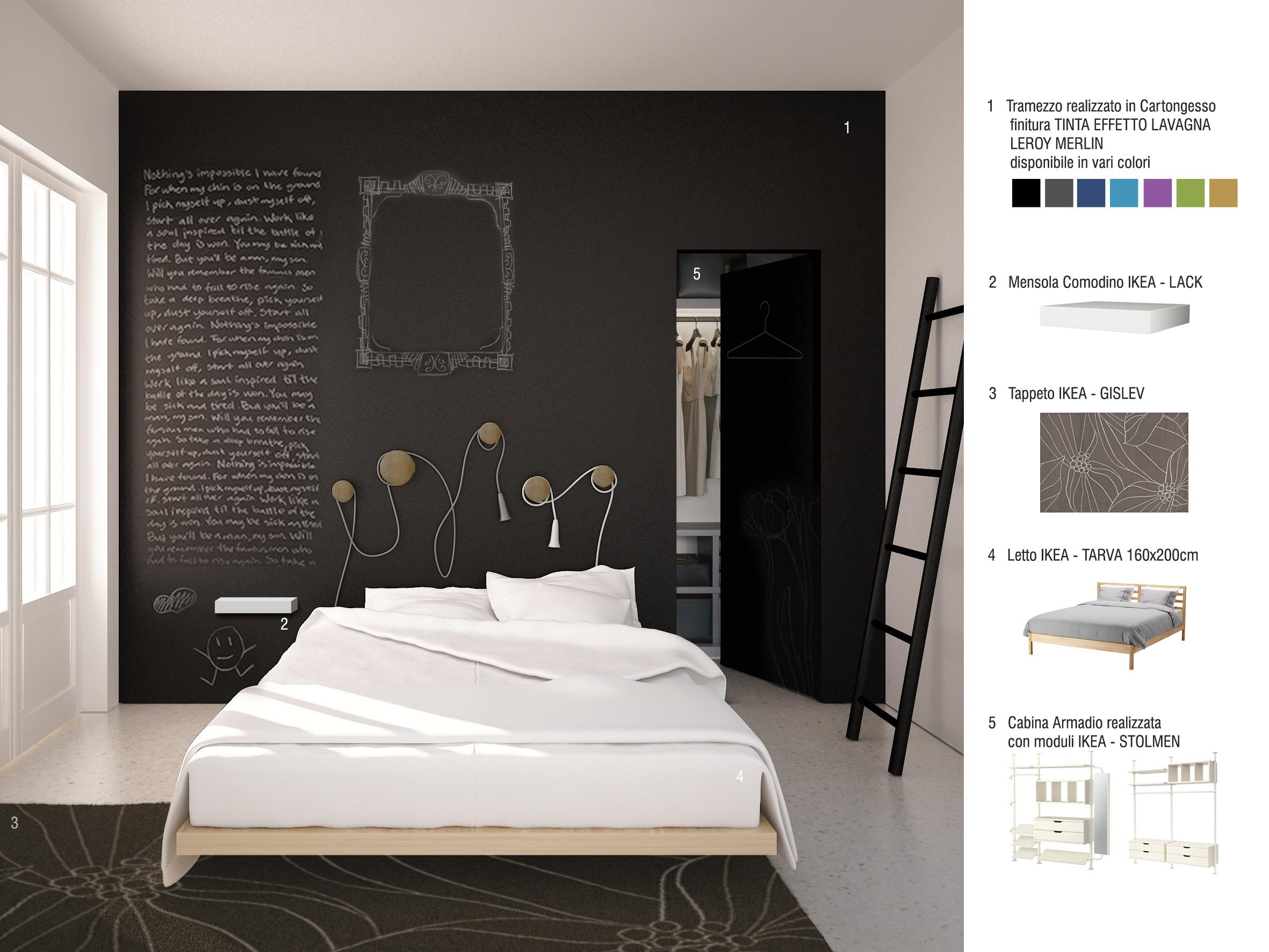 Armadio camera da letto in cartongesso design casa - Camera da letto del papa ...