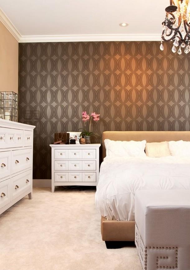 Qualche idea originale per arredare le stanze della for Braune tapete schlafzimmer