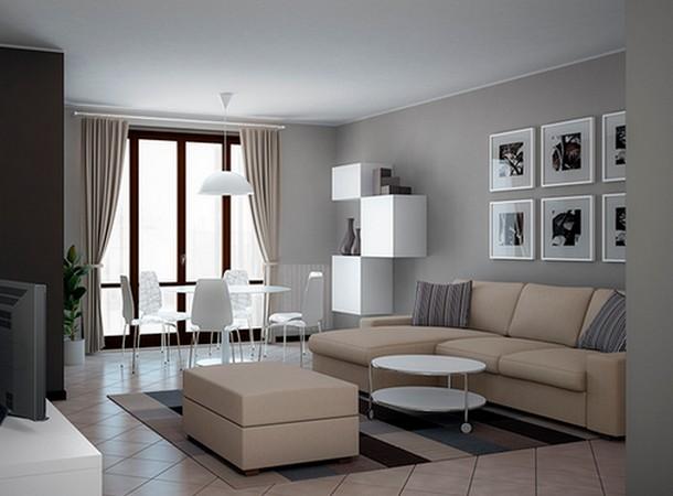 Come trasformare in modo economico un salone freddo e impersonale in uno spazio caldo e - Tinte per interni casa ...