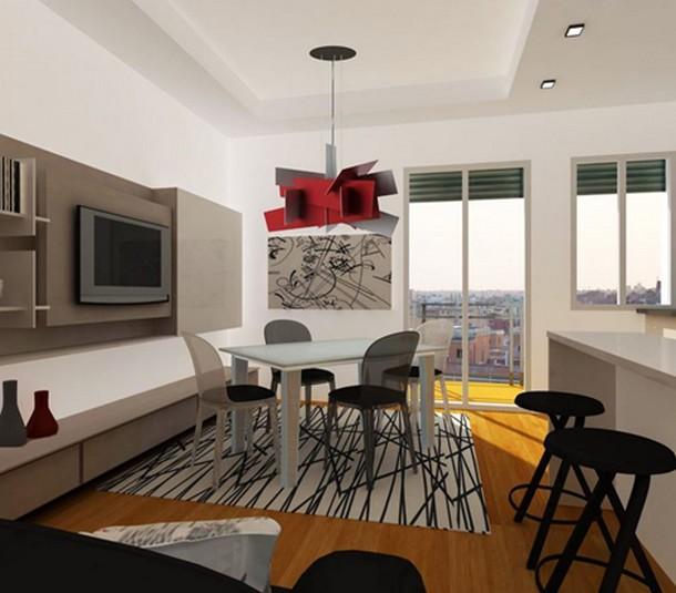 10 soluzioni per trasformare un soggiorno in un ambiente creativo ... - Colori Soggiorno 2014