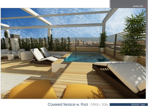 22 idee per realizzare una zona piscina in terrazzo for Idee per party in piscina