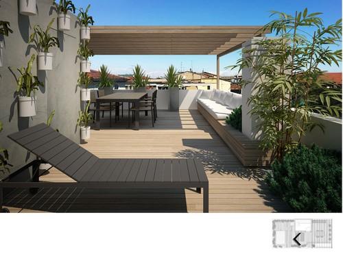 22 idee per realizzare una zona piscina in terrazzo for Terrazzo giardino progettazione