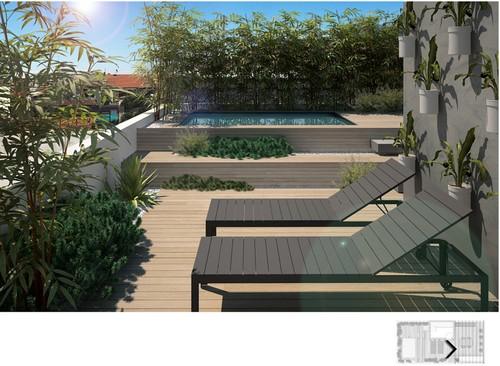 22 idee per realizzare una zona piscina in terrazzo - Realizzare una piscina ...