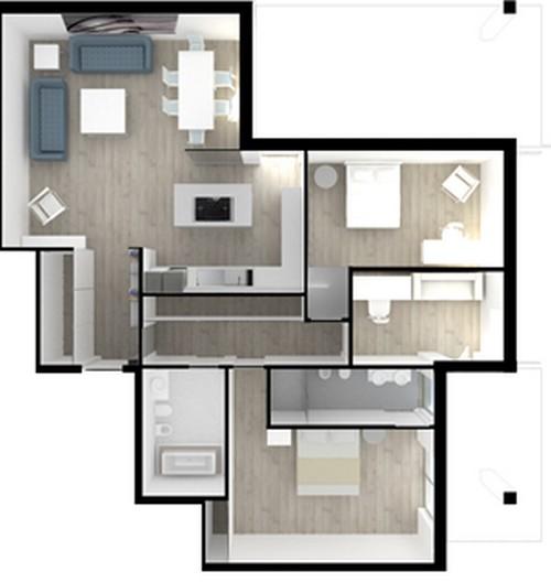 8 interessanti idee per un appartamento moderno ed for Progetti case moderne interni