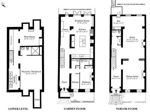 In vendita la casa newyorkese di sarah jessica parker 22 for Piani di casa per la vendita