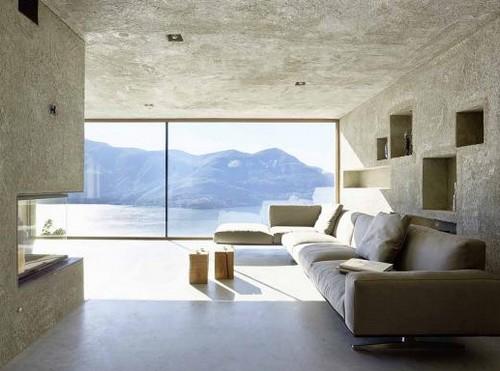Un inno alla natura e all 39 architettura di fronte a un lago for Piani di casa all aperto