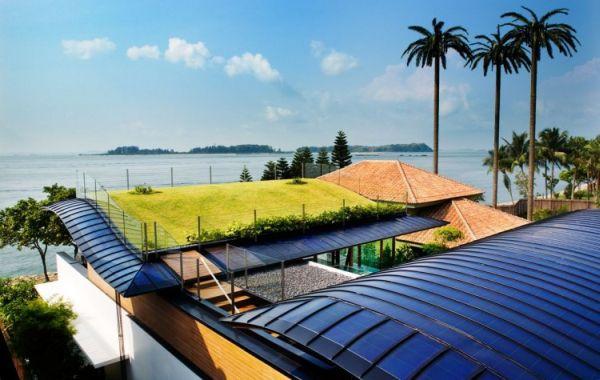 14 spettacolari case sostenibili con il giardino sul tetto - Albergo a singapore con piscina sul tetto ...