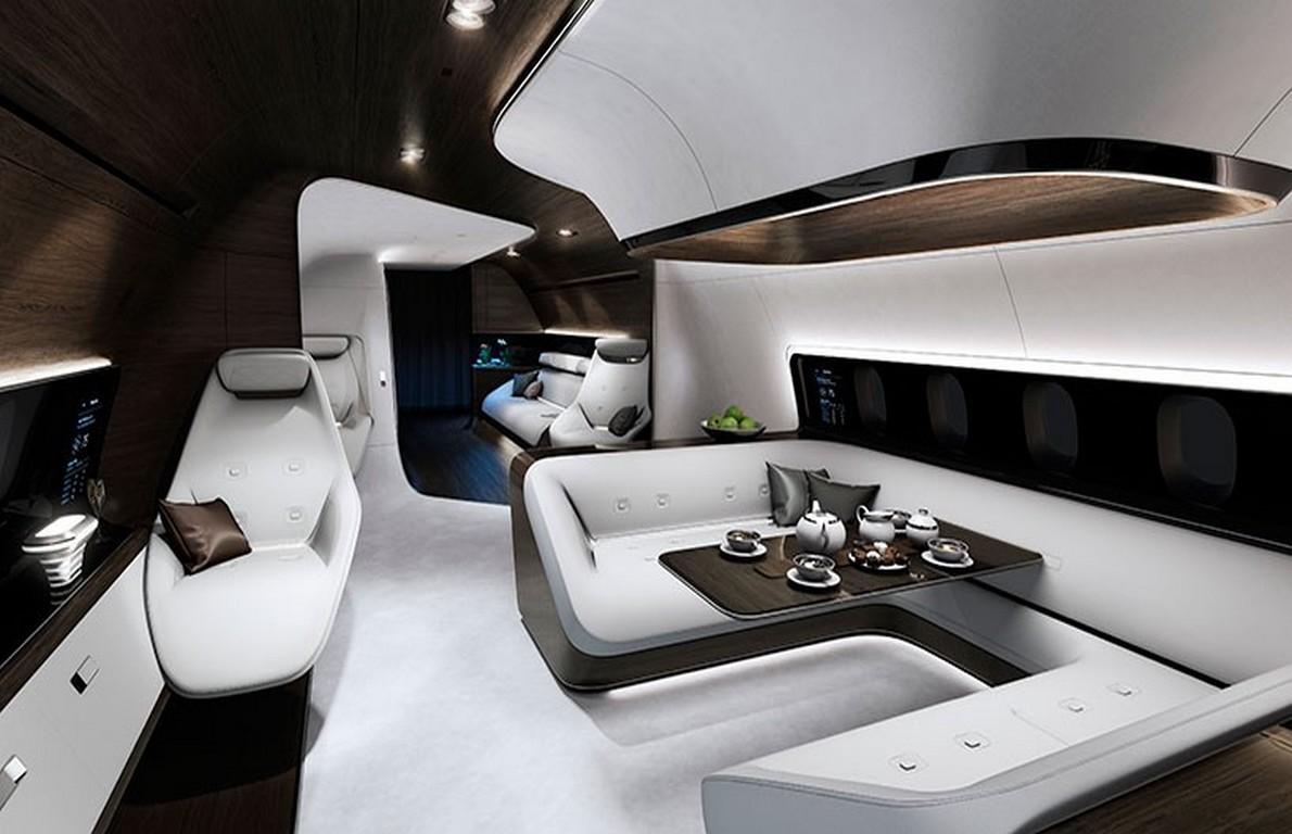Jet Privato Lussuoso : Saranno così gli interni dell aereo più lussuoso del mondo
