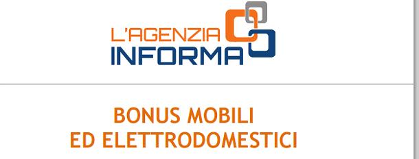 Bonus mobili ed elettrodomestici la guida dell 39 agenzia for Bonus elettrodomestici