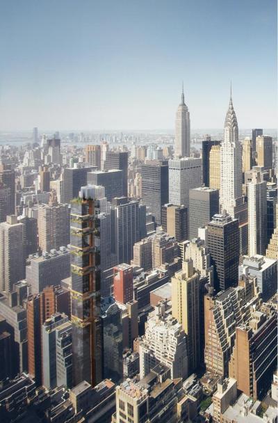 Il grattacielo pi stretto del mondo avr una larghezza di for Comprare casa a new york manhattan