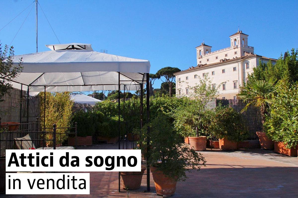 Gli attici più belli d'Italia in vendita