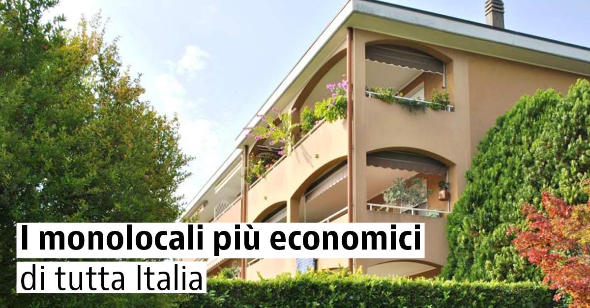 I monolocali più economici di tutta Italia