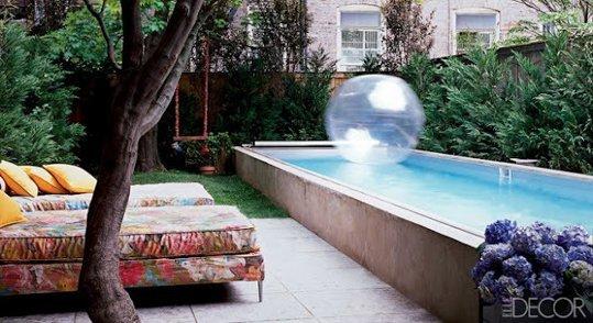 Idee per decorare casa come adattare una piscina anche a - Come disegnare una casa con giardino ...
