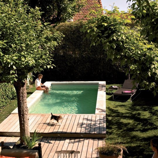 Idee per decorare casa come adattare una piscina anche a - Mini pool terrasse ...