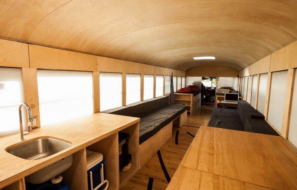Ecco alcune idee per trasformare un vecchio autobus in una for Trasformare casa