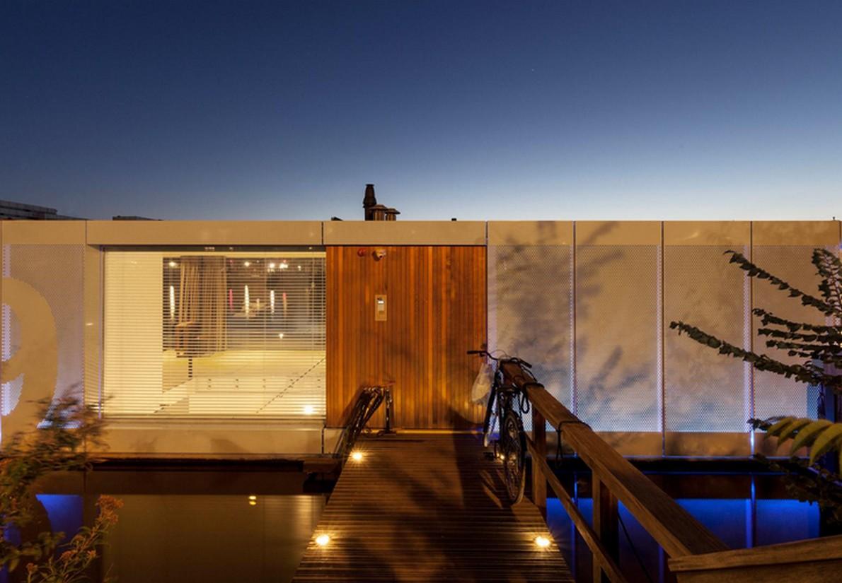 Un'immagine della casa di lusso galleggiante