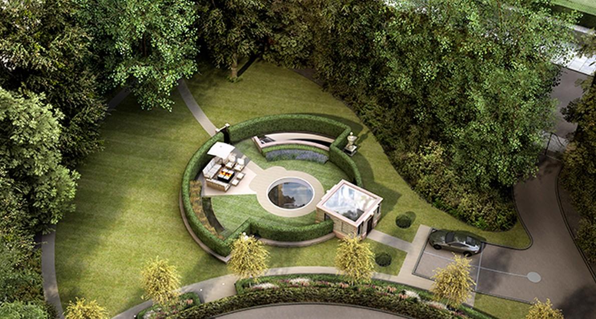 Lo spettacolare giardino della casa sotterranea