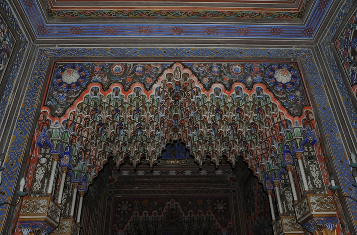 Dettaglio degli interni del Castello di Sammezzano