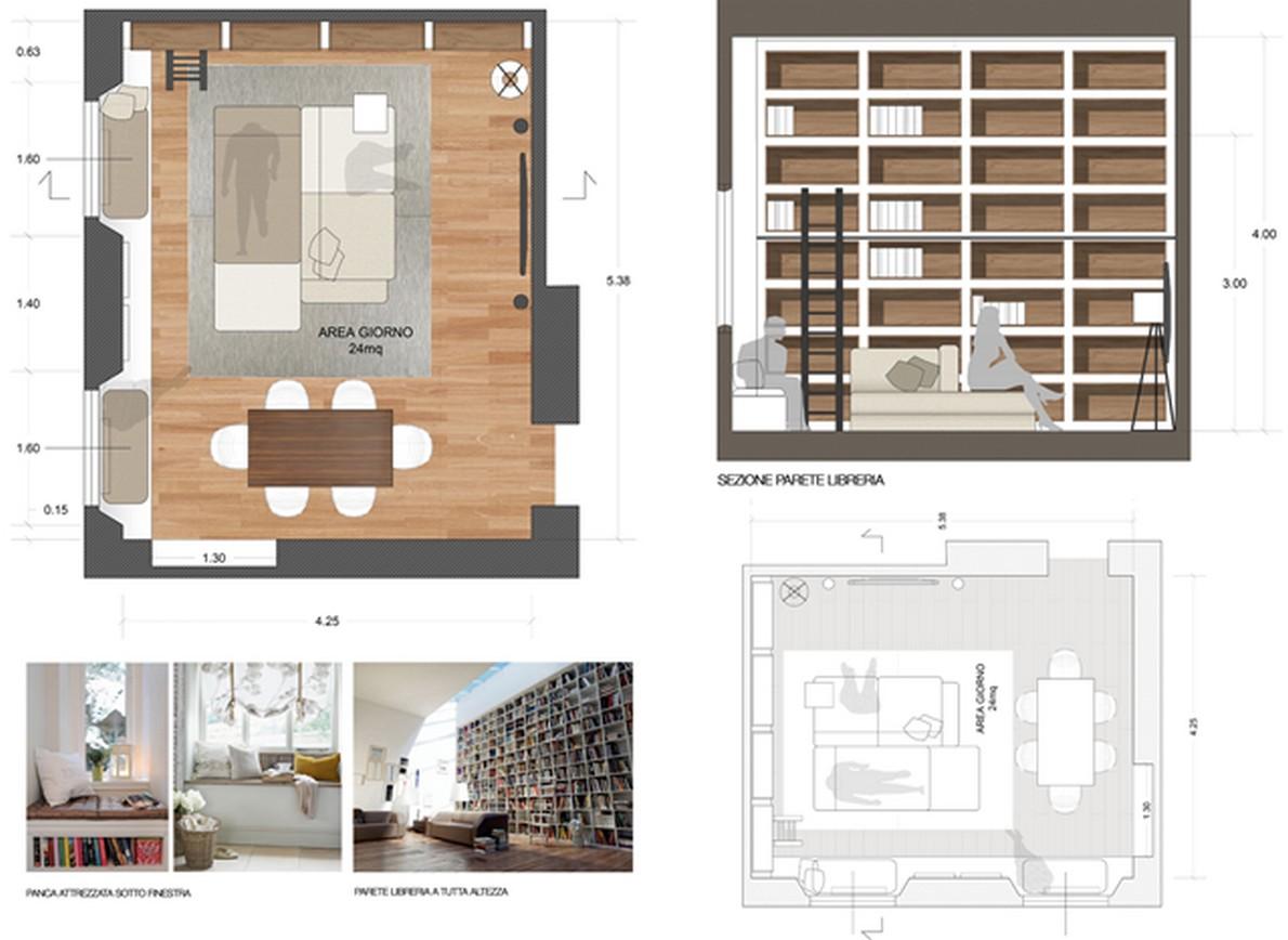 idee per arredare una zona living a poco prezzo (foto) ? idealista ... - Cucina E Soggiorno Unico Ambiente Piccolo