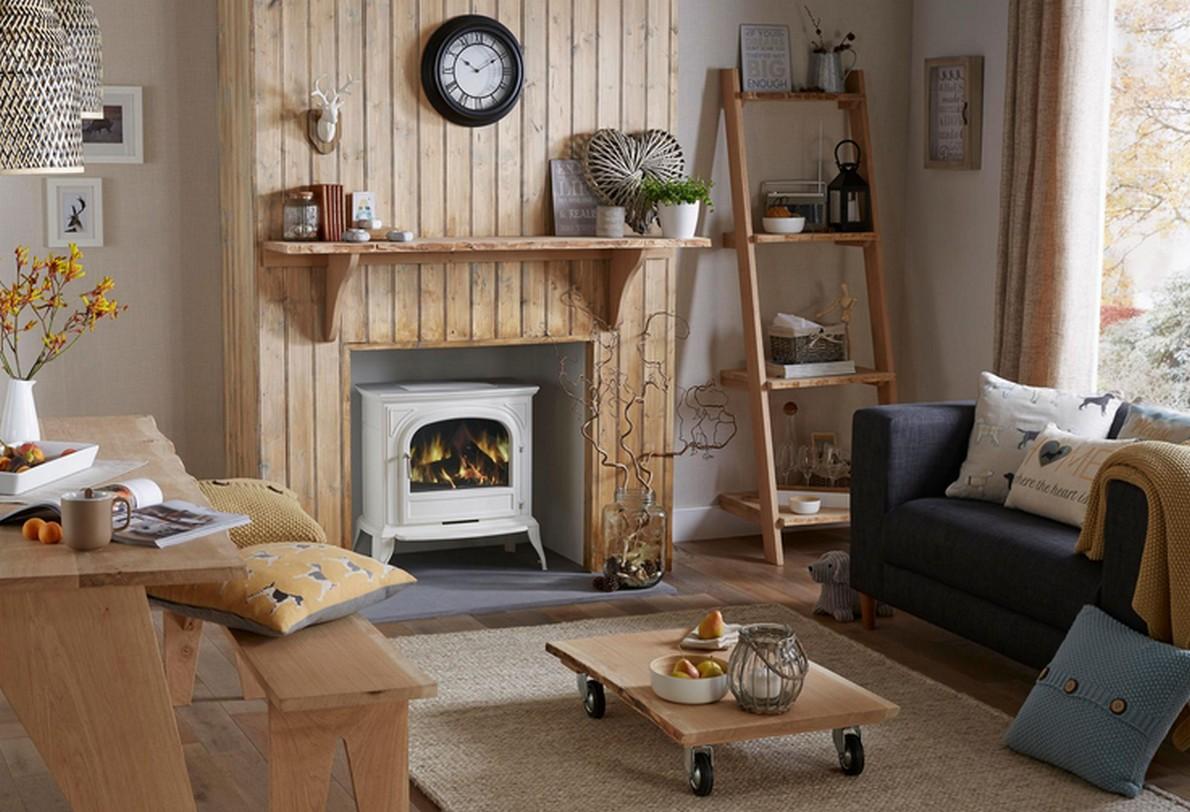 soggiorno arredato in legno