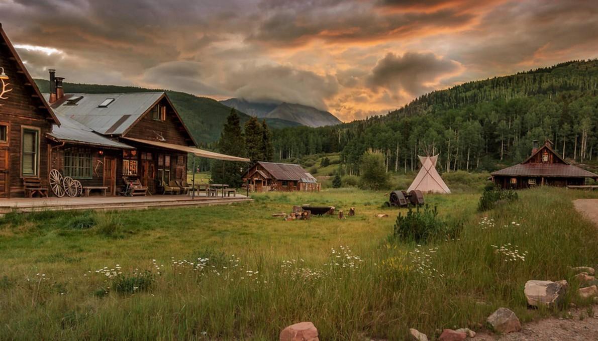 Il resort in piena campagna negli USA