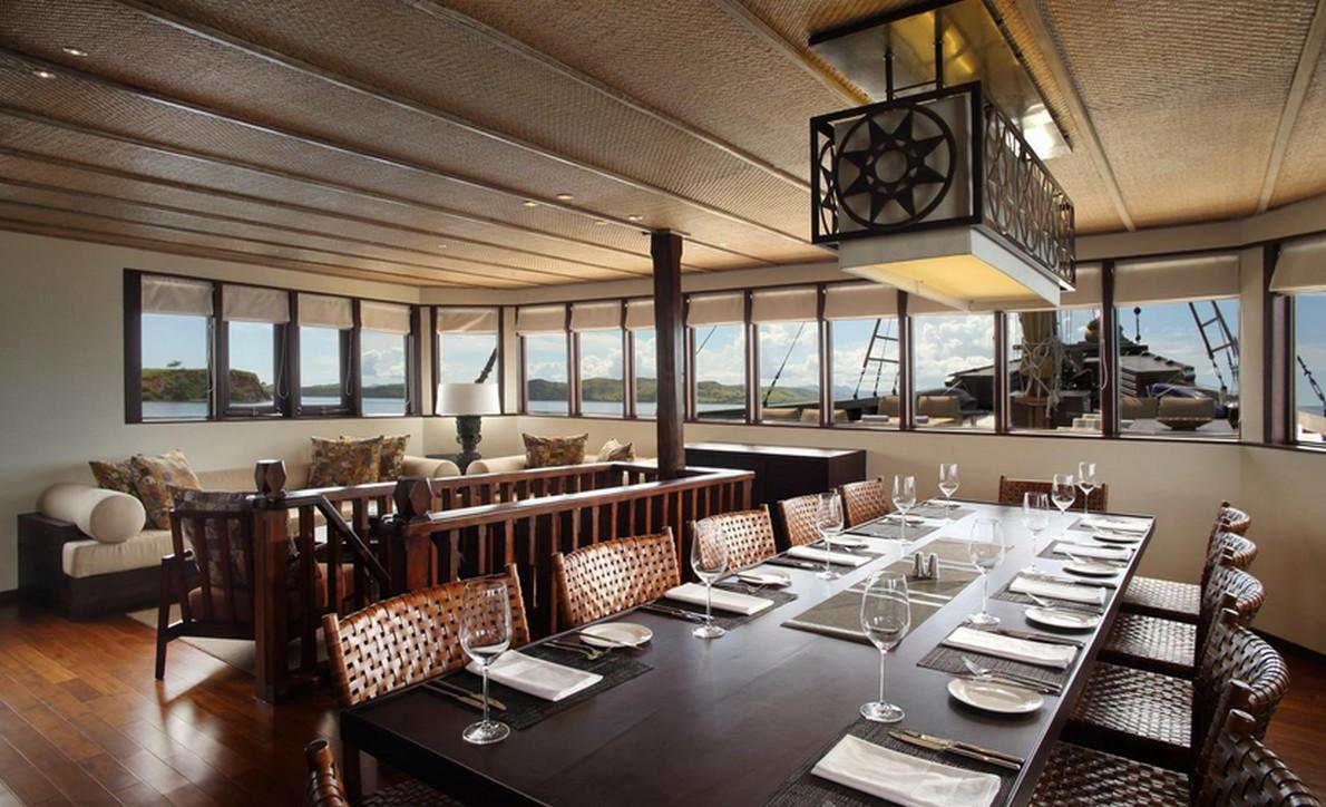 Un vero hotel di lusso dentro della barca