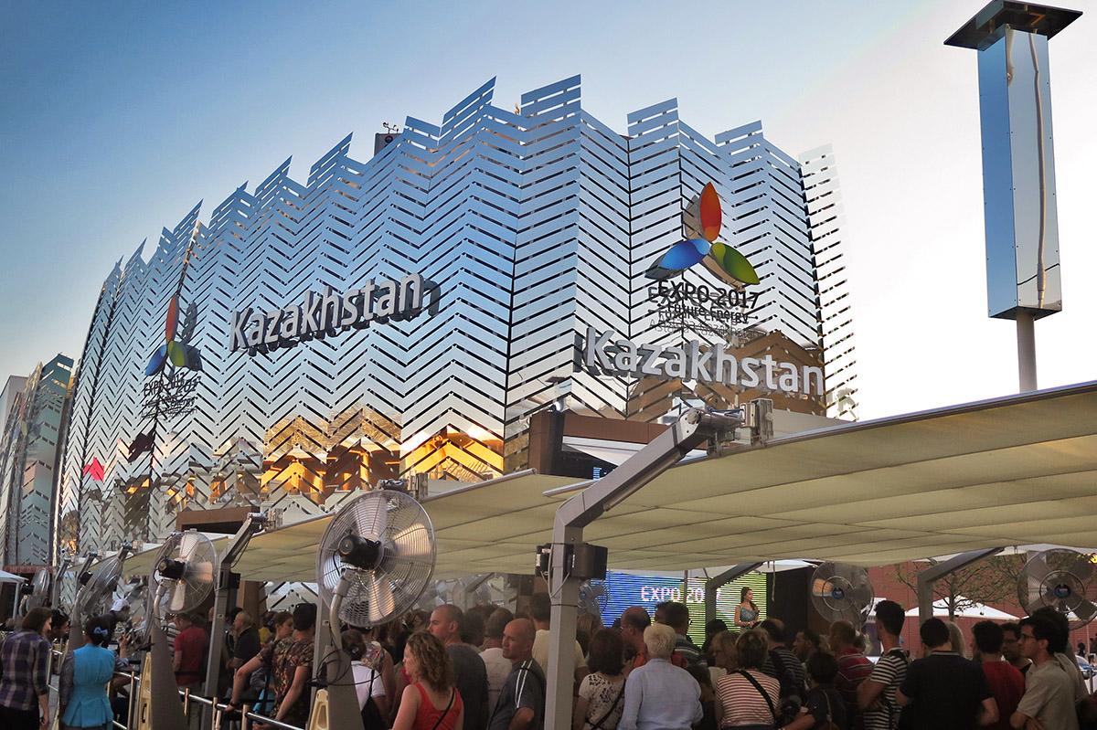 Il padiglione Kazakhstan all'Expo