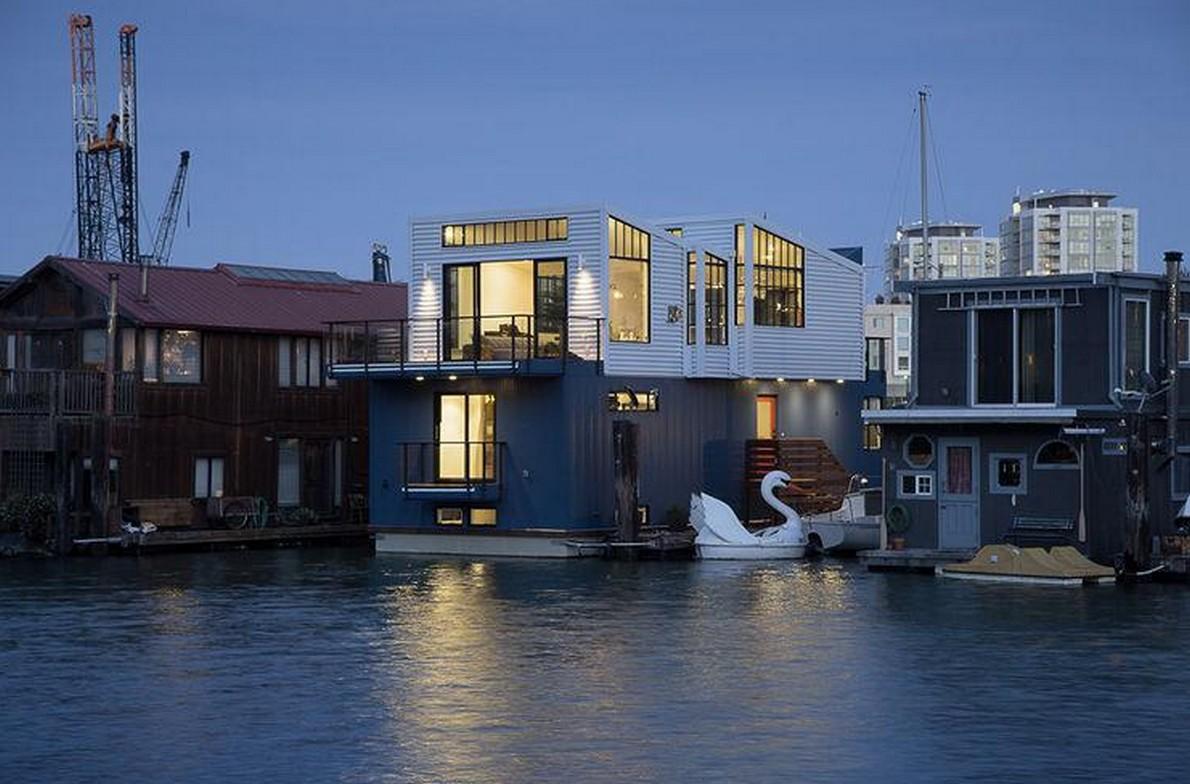 La casa galleggiante nella baia di San Francisco
