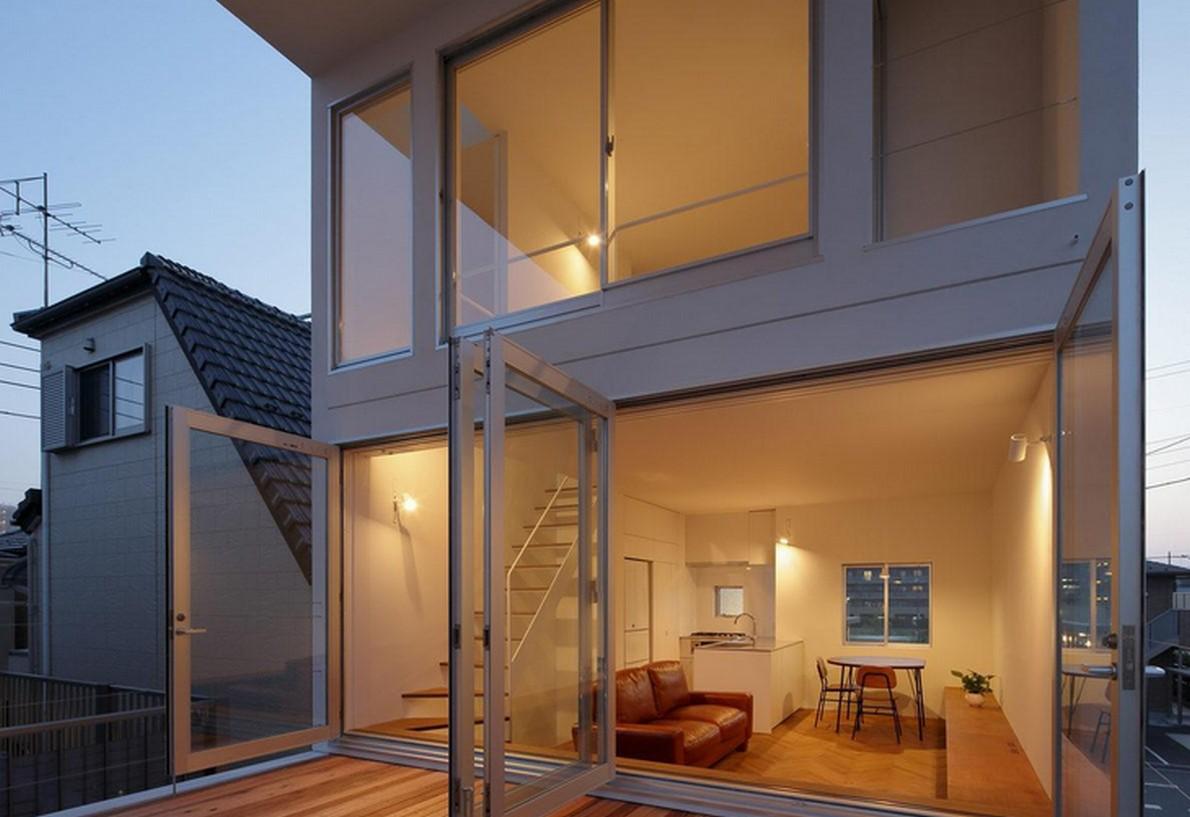 Una casa in stile minimalista con una terrazza per fare for Casa stile minimalista