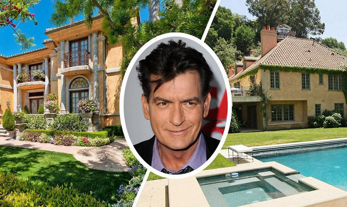 Due delle tre ville californiane dell'attore Charlie Sheen