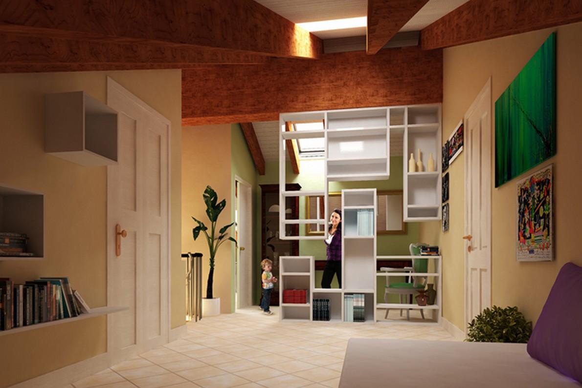 Nuove idee per ottimizzare gli spazi di una mansarda foto for Ristrutturare la camera da letto
